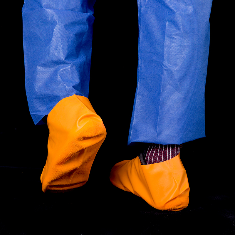 Rubber overshoes orange