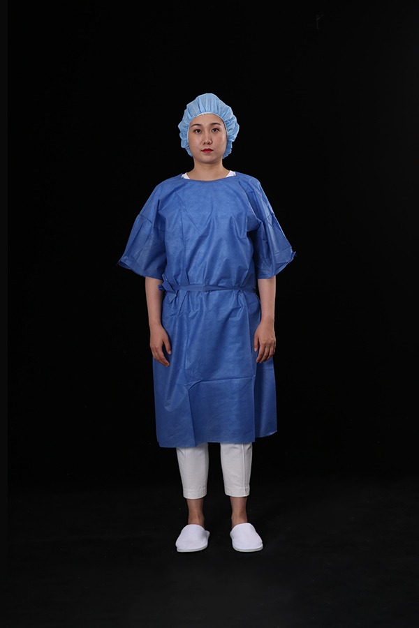 Patient gown short sleeve